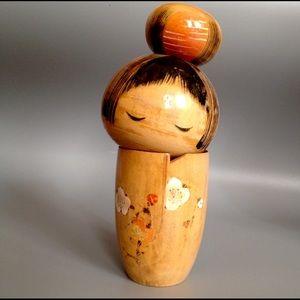Vintage Japanese Kokeshi D oll. Mid century Lady